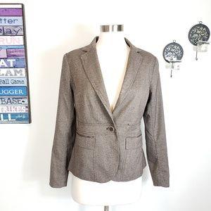 Ny&Co 7th Avenue herringbone Single Button blazer